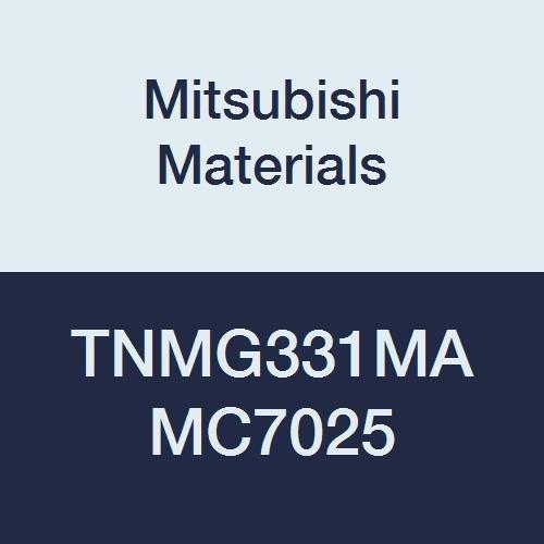 Mitsubishi Materials TNMG331MA MC7025 Carbide TN Type Negative Turning Insert with Hole, Coated, Triangular, Grade MC7025, 0.375
