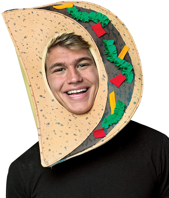 Rasta Imposta Taco Headpiece Costume,Multi,One Size