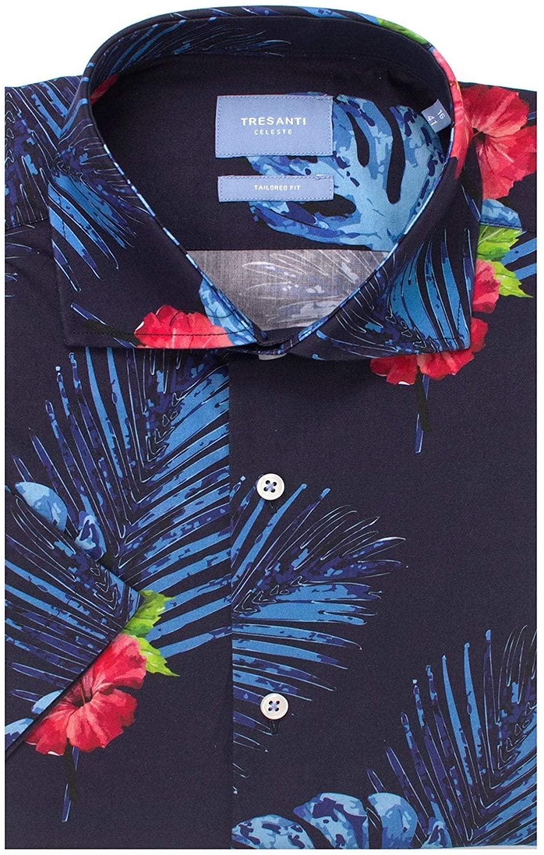 Tresanti Tropical Fantasy Cotton Short Sleeve Men's Shirt