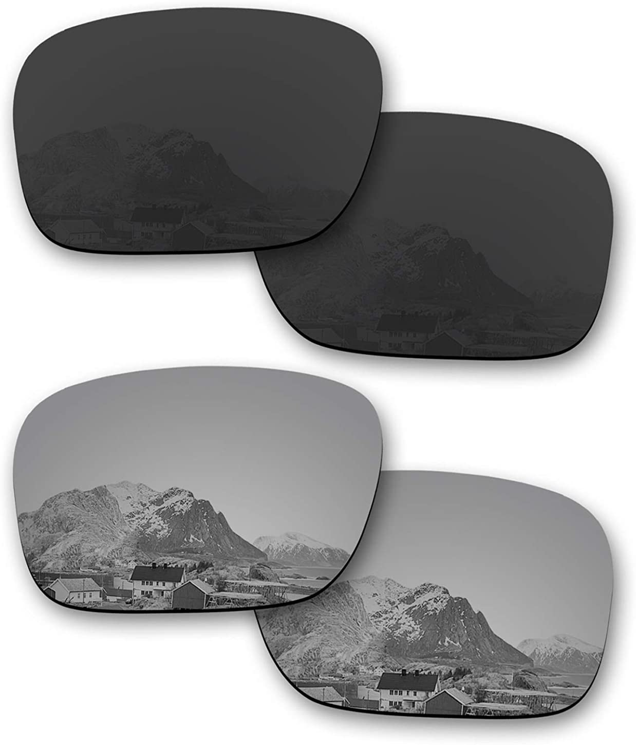 Puzzley Mirror Polarized Replacement Lenses for Oakley Fuel Cell OO9096 Sunglasses - Rich Options
