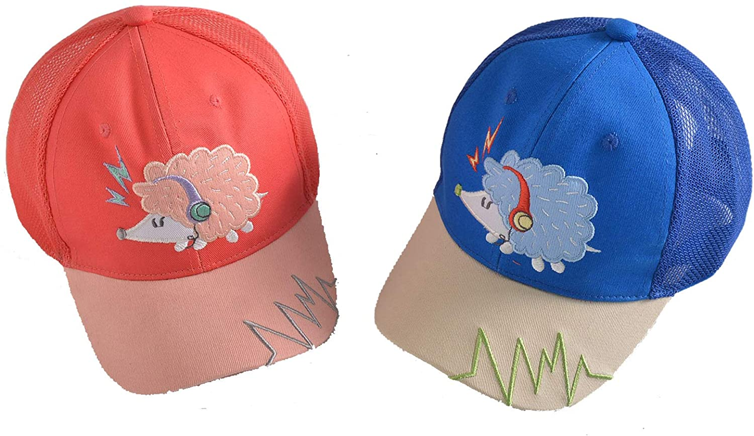 Children's Little Hedgehog Embroidery Hat Cartoon Breathable Fashion Cap Baseball Cap