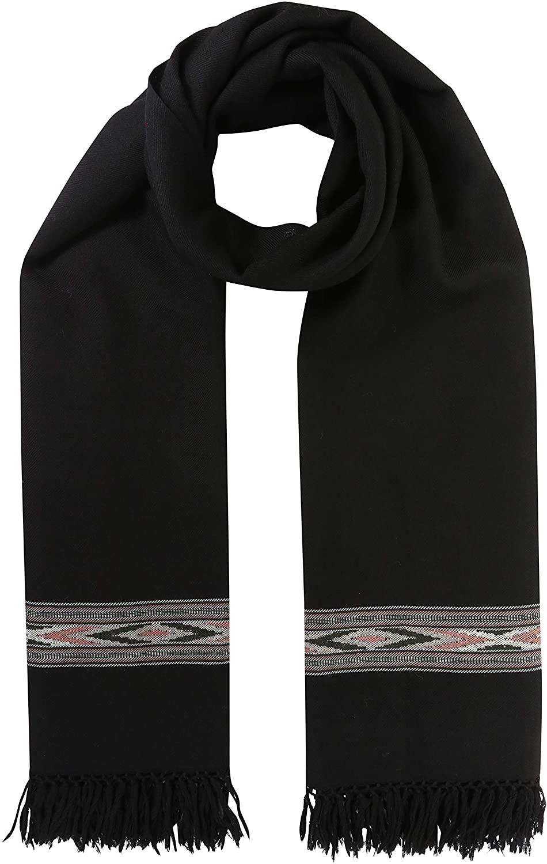 likemary Mens Merino Wool Travel Blanket Oversize Scarf & Wrap Ethical & Handwoven Takhi