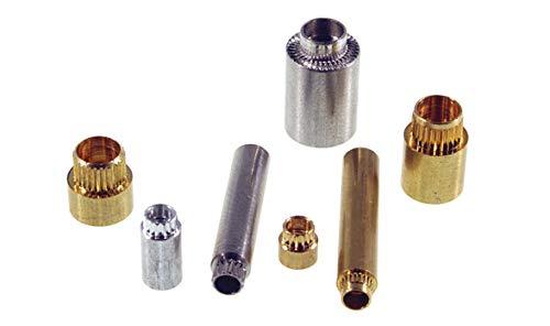 3051-B-632-B-12, Standoffs Round Swage F 6.35mm 6-32 15.37mm Brass Zinc Clear Chromate (25 Items)