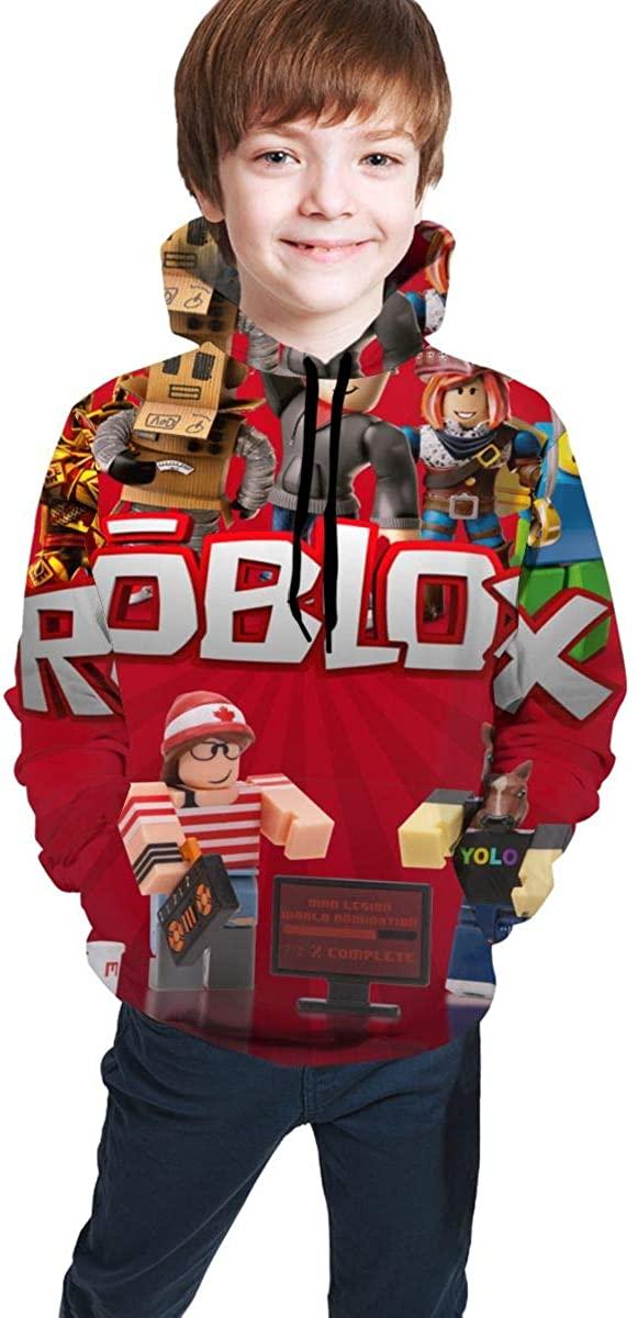 Chuangyitongxun Children's Hoodies Ro-blox 3D Print Unisex Pullover Hooded Sweatshirts for Boys Girls Teen Kid's