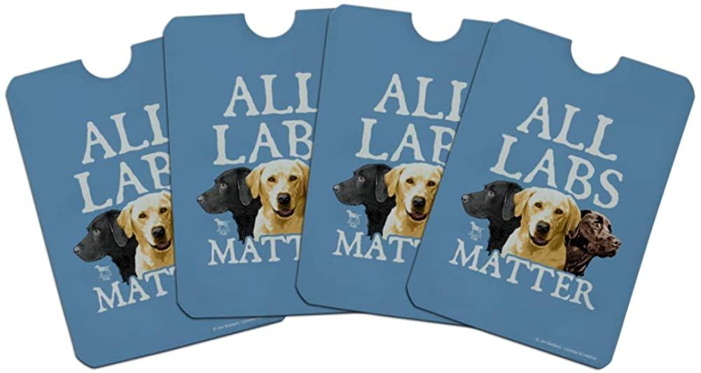 All Labs Matter Labrador Dogs Credit Card RFID Blocker Holder Protector Wallet Purse Sleeves Set of 4