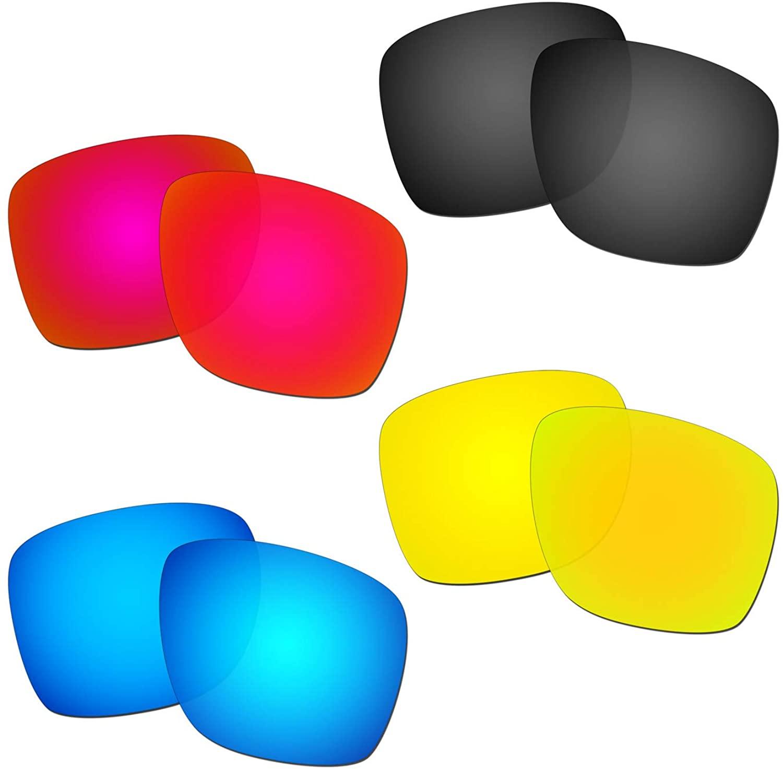HKUCO Reinforce Replacement Lenses For Oakley Sliver XL Red/Blue/Black/24K Gold Sunglasses
