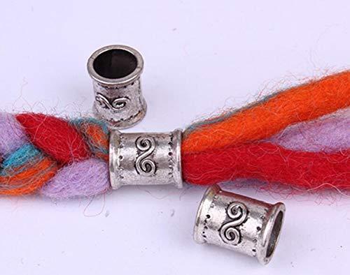 40PCs Tibetan style Metal Beads Set Dreadlock Beads dread beads and hand chain necklace bracelet DIY accessories 10mm hole