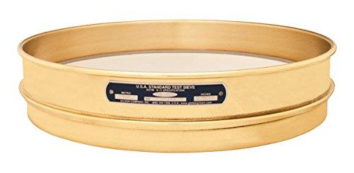 Gilson V12CH #170 ASTM Round Brass/Stainless Steel Test Sieve, 12 Frame Diameter, 170 Opening Size, Half Height