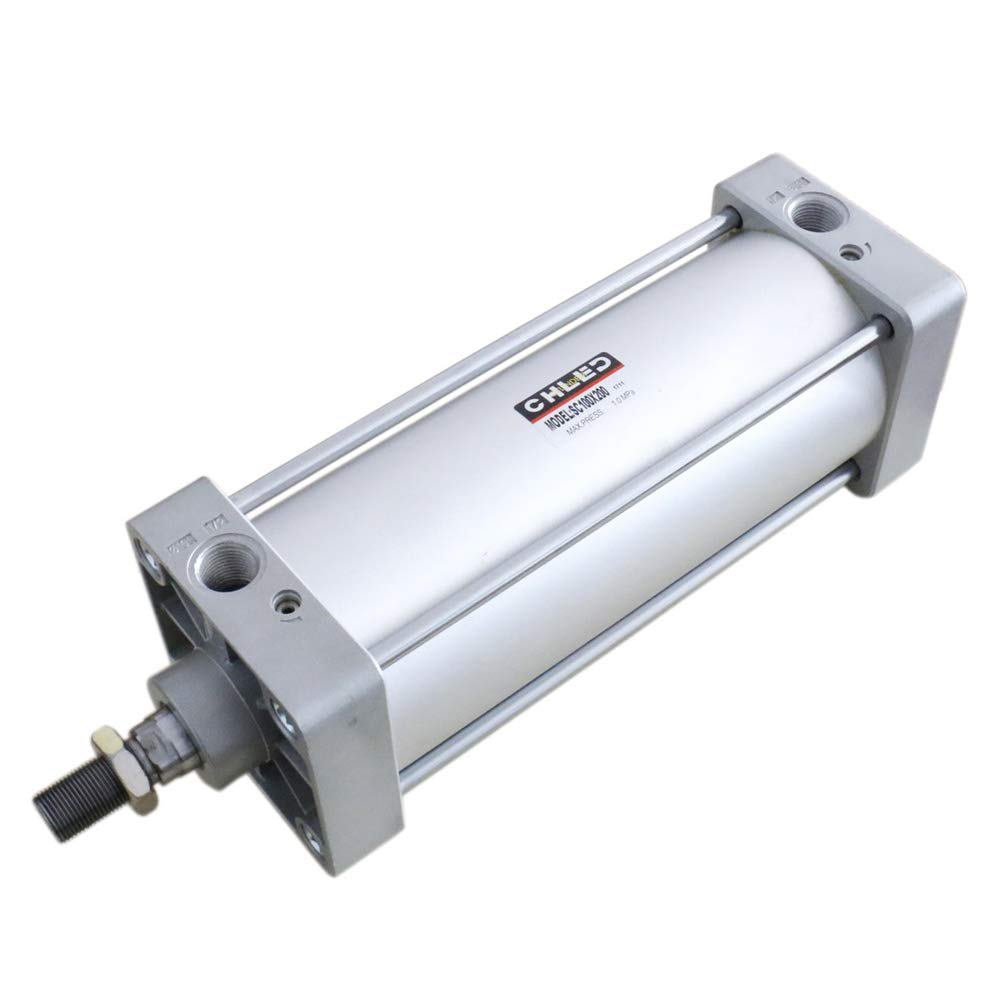 Woljay Pneumatic Air Cylinder SC 125 x 175 PT 1/2 Screwed Piston Rod Dual Action Bore: 125mm Stroke: 175mm