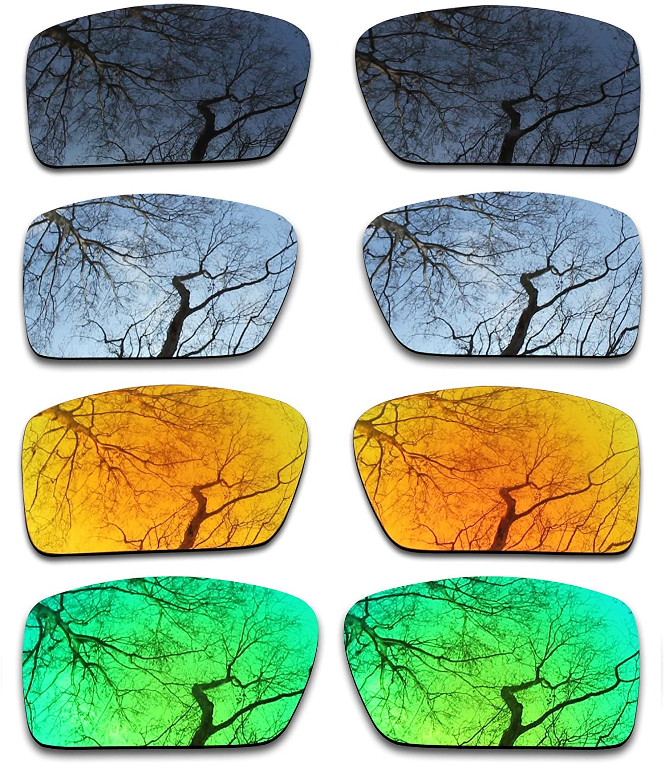 ToughAsNails Set of 4 Polarized Replacement Lenses for Oakley Gascan Pack-BSFE2