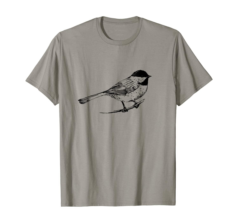 Chickadee Bird T-Shirt Nature Lover Birding Gift