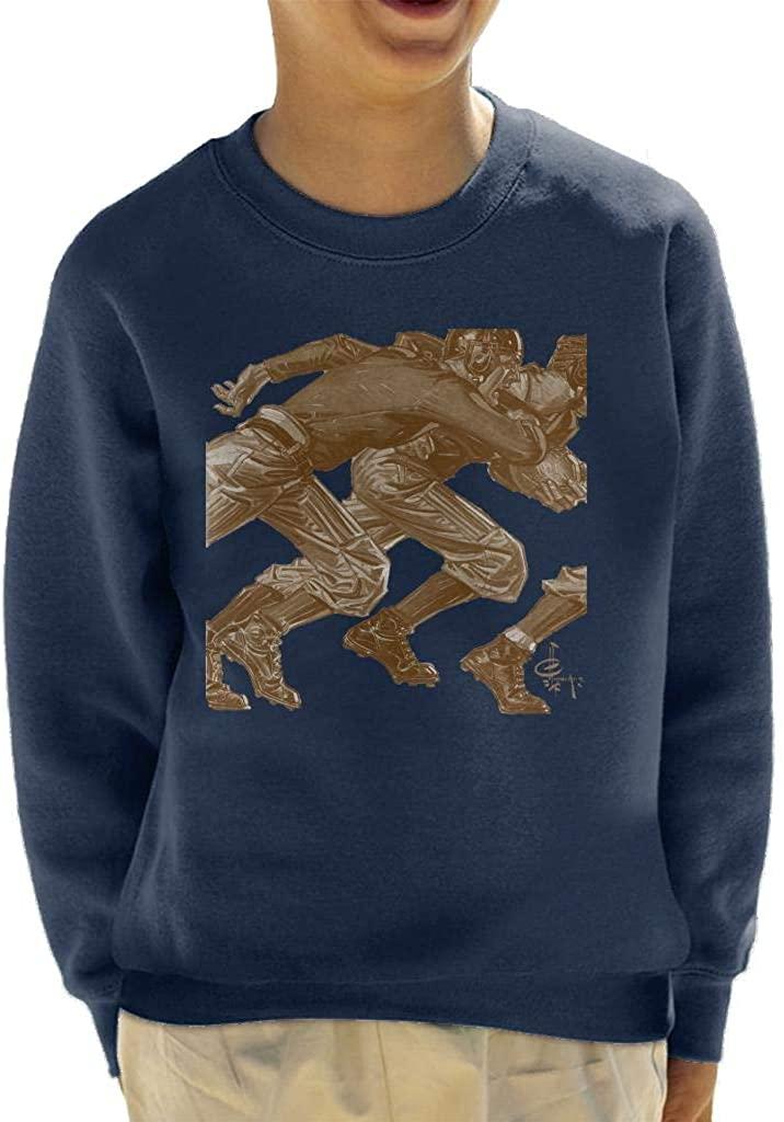 The Saturday Evening Post American Football Running Kid's Sweatshirt