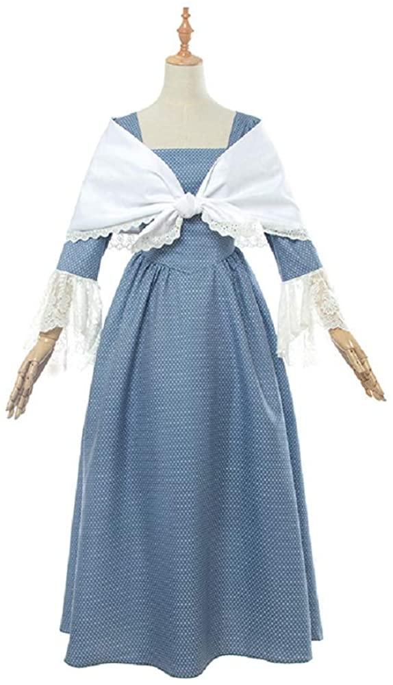 Xfang Women Pioneer Colonial Dress American Civil War Historical Clothing Modest Prairie Costume