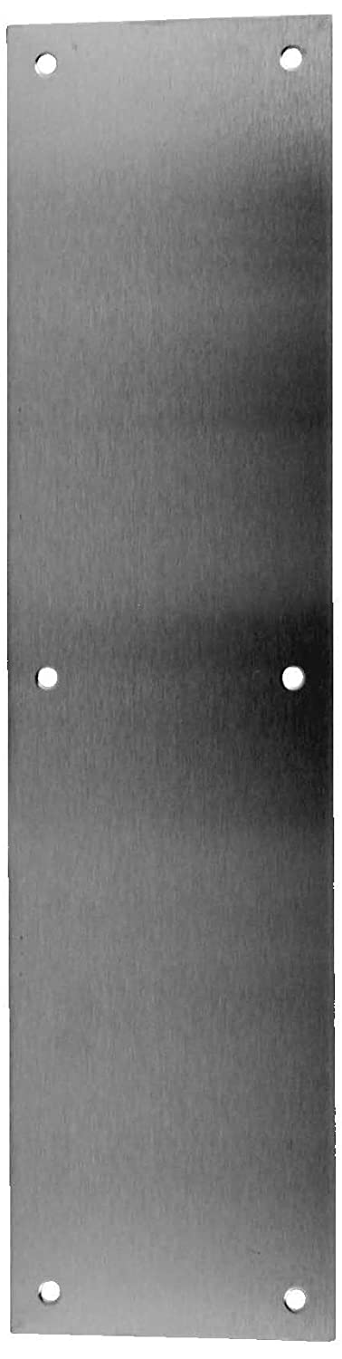 Don-Jo 69 Four Beveled Edges Push Plate, Polished Brass Finish, 3