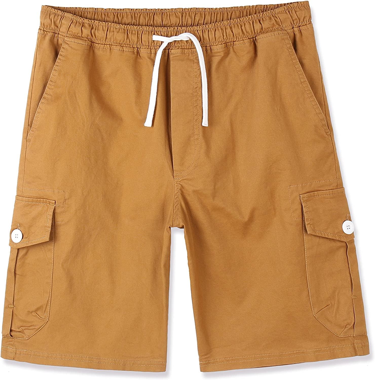 Estepoba Men's Premium Casual Slim Fit Stretch Cotton Twill Cargo Jogger Short