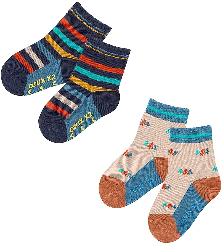 Deux par Deux Boys' Socks Whistle Punk, Sizes 2-12