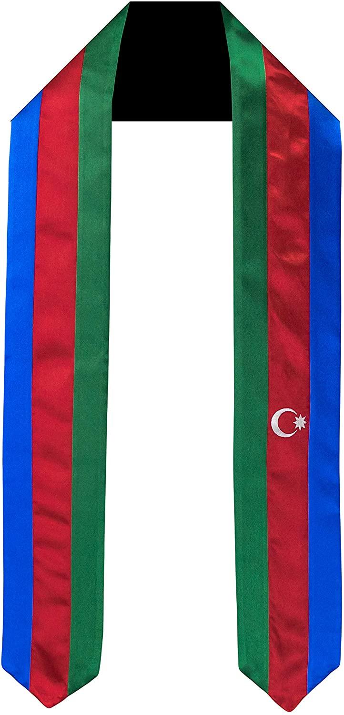 Azerbaijan Flag Graduation Sash/Stole International Study Abroad Adult Unisex