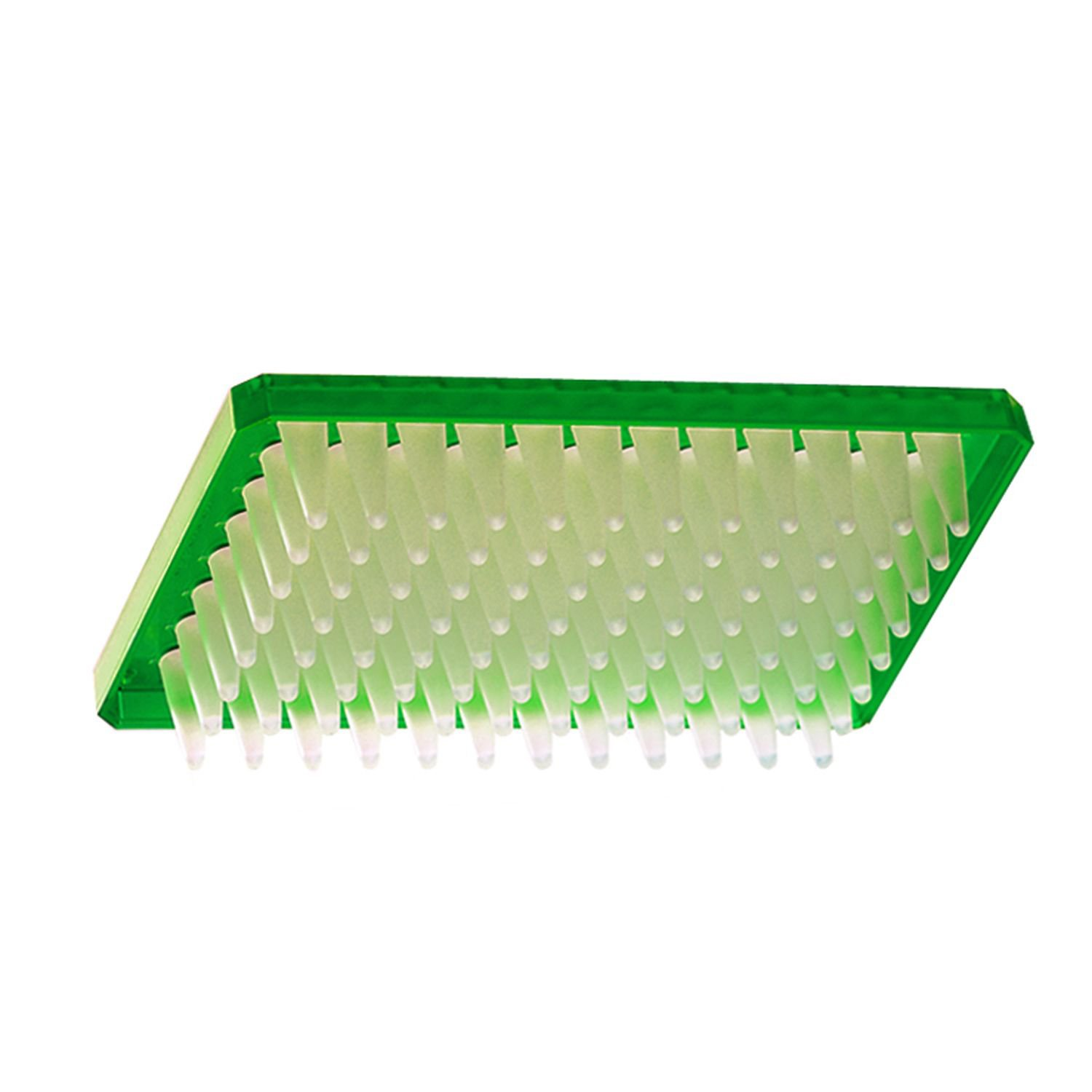 Axygen P-96-450V-G Deep Well 96-Well x 500 microliter Assay Storage Microplate with V-Bottom Wells, Green PP (1 Case: 10 Plates/Unit; 5 Units/Case)