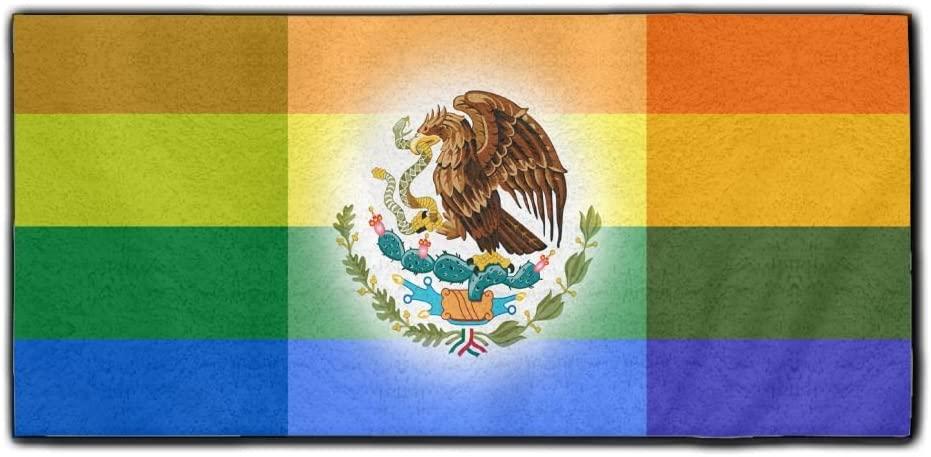 ChunLei Mexican Rainbow Flag Washcloths Face Towel Hair Care Towel Gym And Spa Towel Kitchen Dish Towel