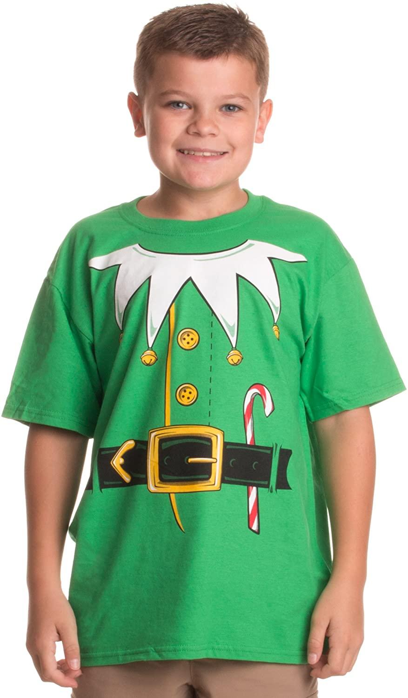 Santa's Elf Costume | Jumbo Print Novelty Christmas Holiday Humor Youth T-Shirt