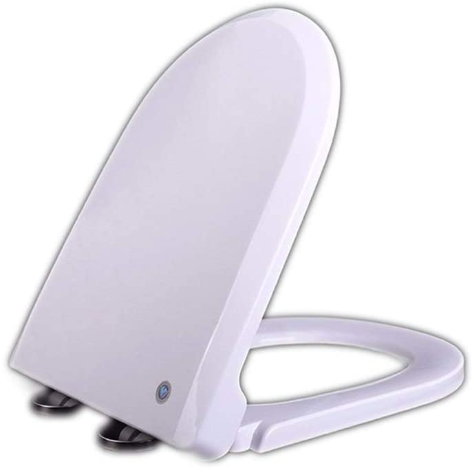 GDSMTG Quiet Comfortable White PP Board Toilet Bowl Toilet Lid Toilet Seat Easy to Clean