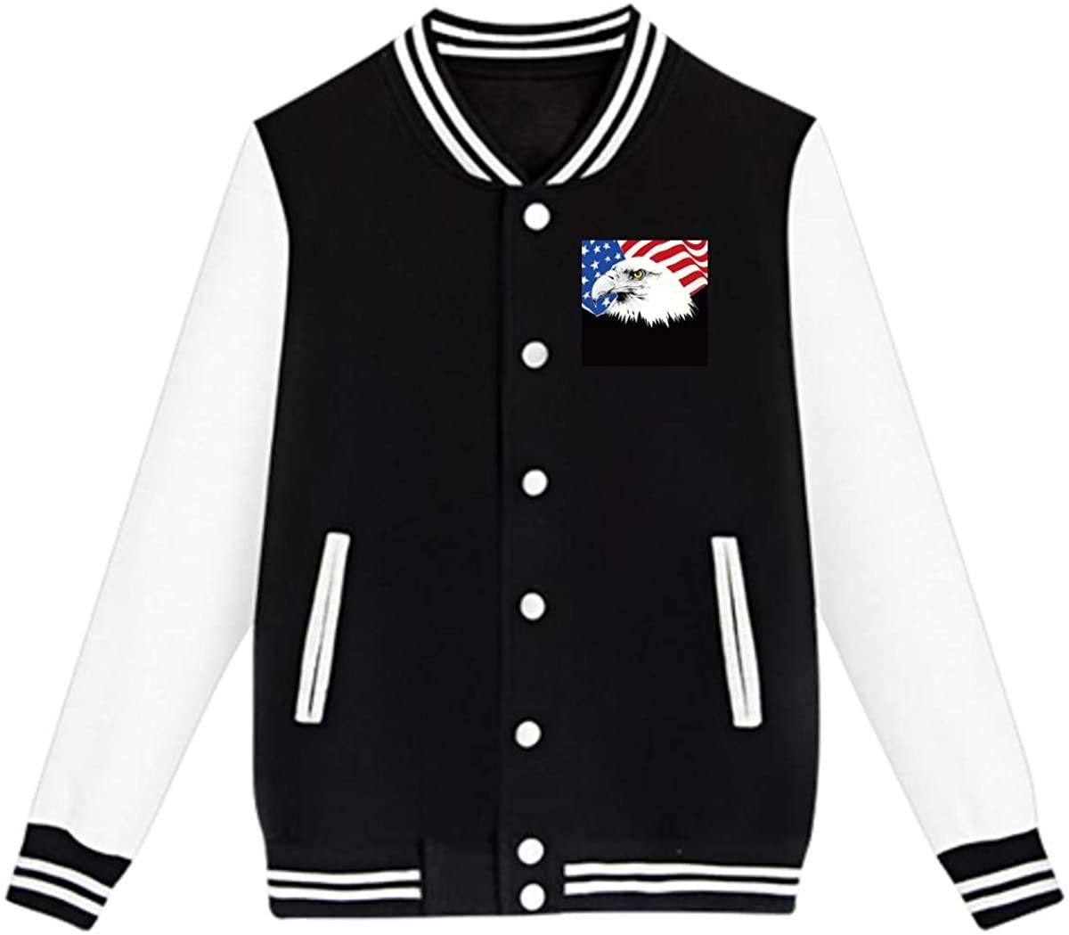 American Bald Eagle Baseball Jacket Custom Fleece Varsity Uniform Sport Coat for Youth