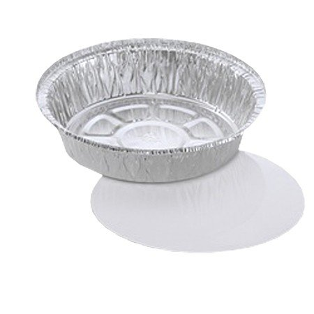 7 Round Aluminum Container with Flat Board Lid - 200 per case