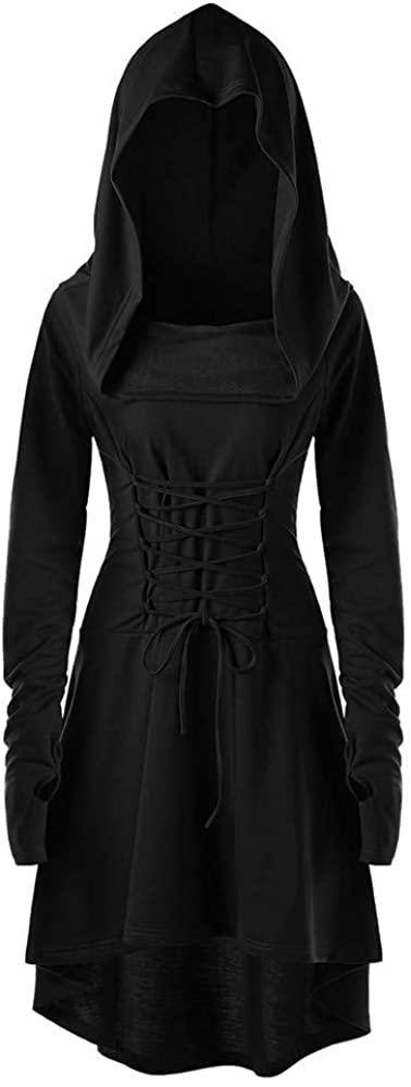 Halloween Womens Tree Print Convertible Collar Asymmetrical Knitwear Cloak Tops