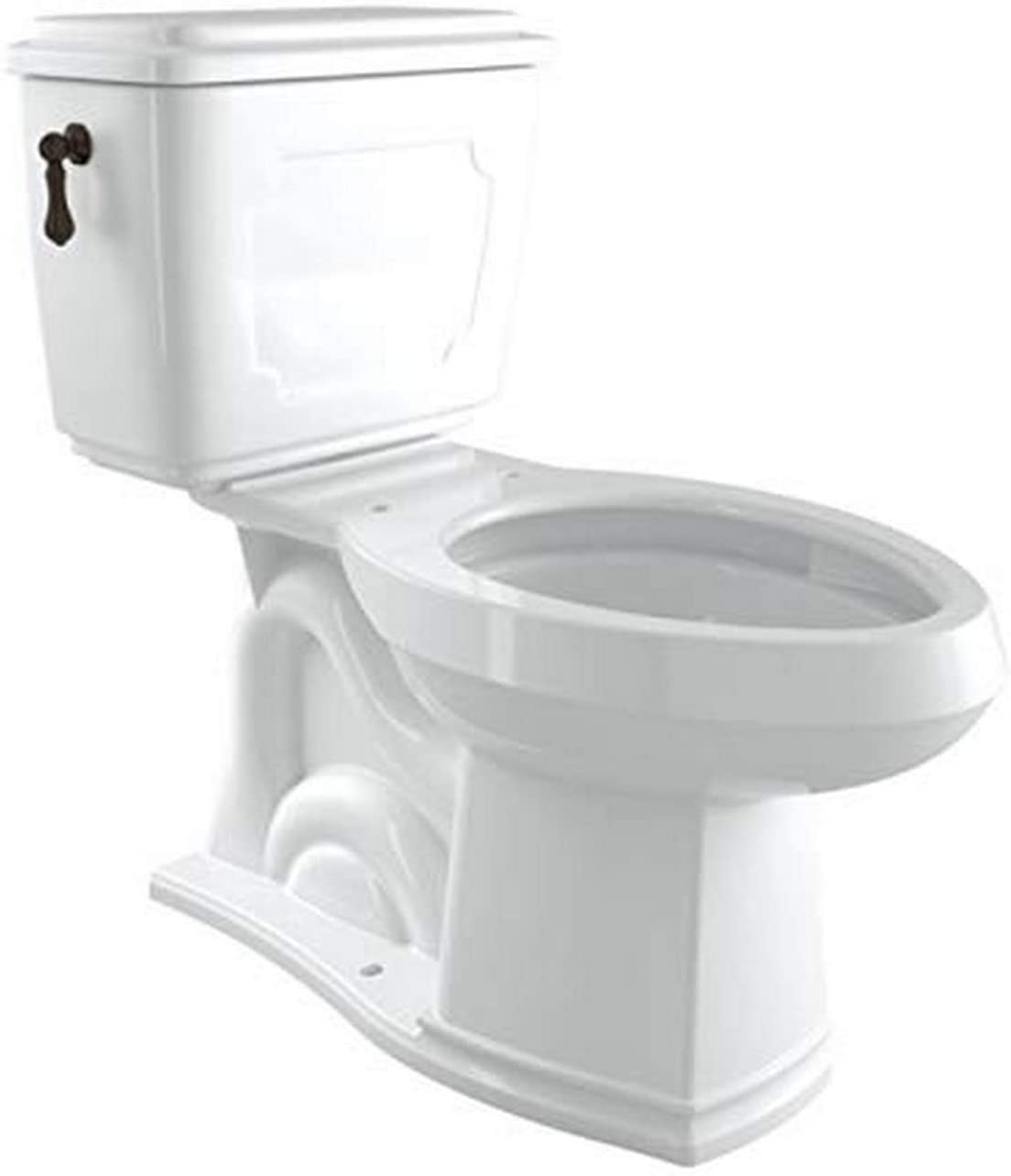 Rohl U.KIT113-TCB Kit Perrin & Rowe Victorian Close Coupled Water Closet 1.28 Gpf Complete with 9440 Standard Metal Flush Lever, Tuscan Brass