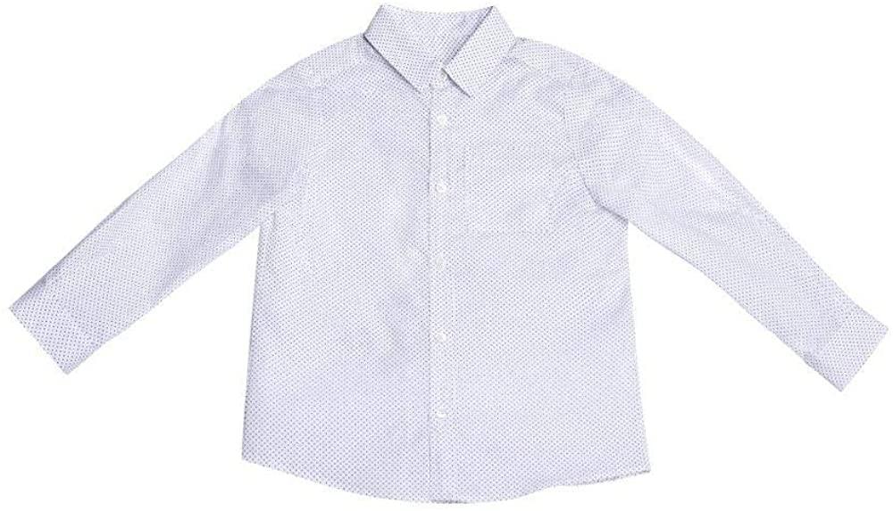 Garcon a Moi Boys Toddler Baby Button Down Long Sleeve Dress Shirt