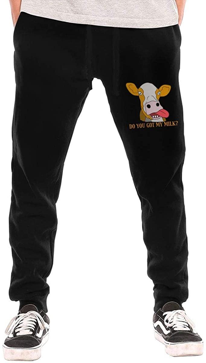 Field Rain Cow Fashion Men's Breathable Causual Soft Long Sweatpants Sport Pants
