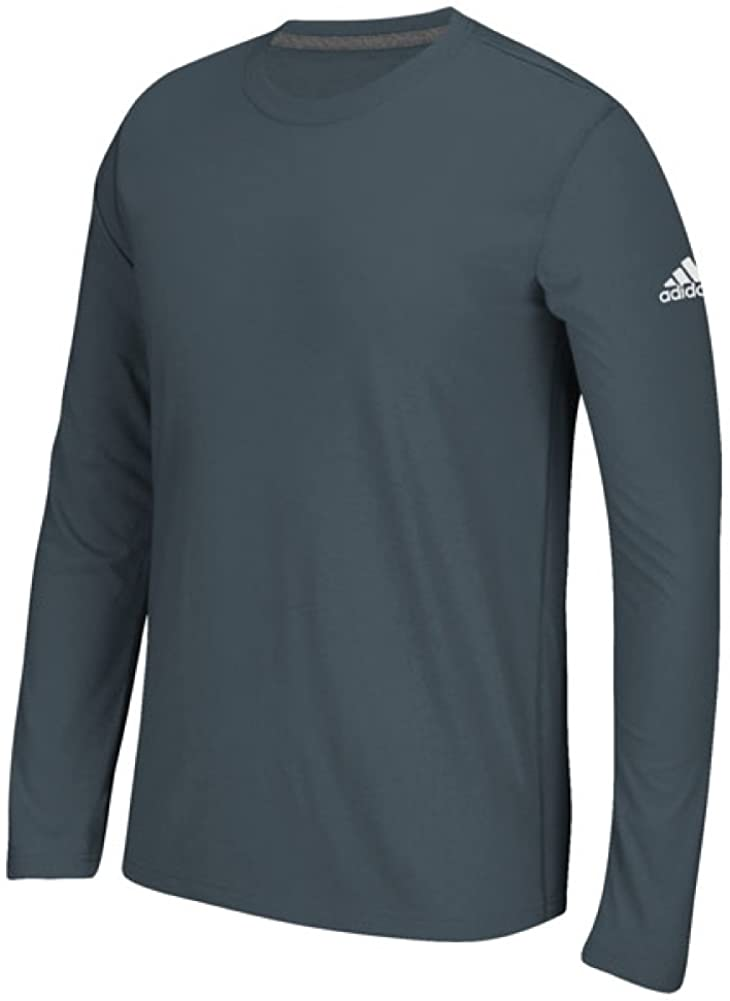 adidas Men's Long Sleeve Ultimate T-Shirt (Onix Grey, 3X-Large)