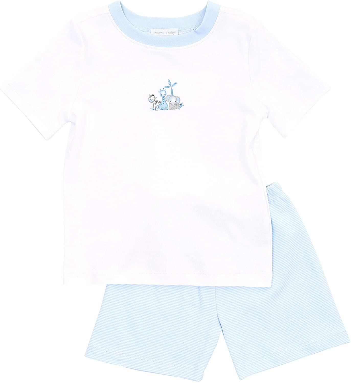 Magnolia Baby Baby Boy Sweet Safari Emb Toddler Short Set Silver