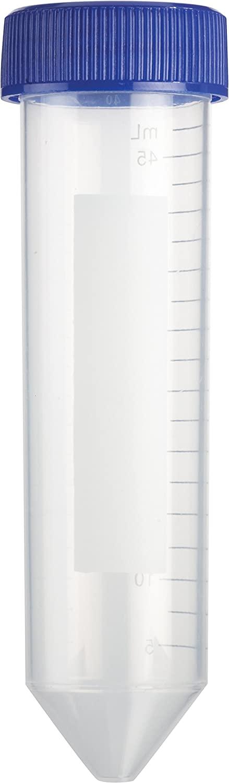 Heathrow Scientific HD4427R Polypropylene Racked Sterile Conical Centrifuge Tube, 5.0mL Graduation, 50mL Capacity (Pack of 500)