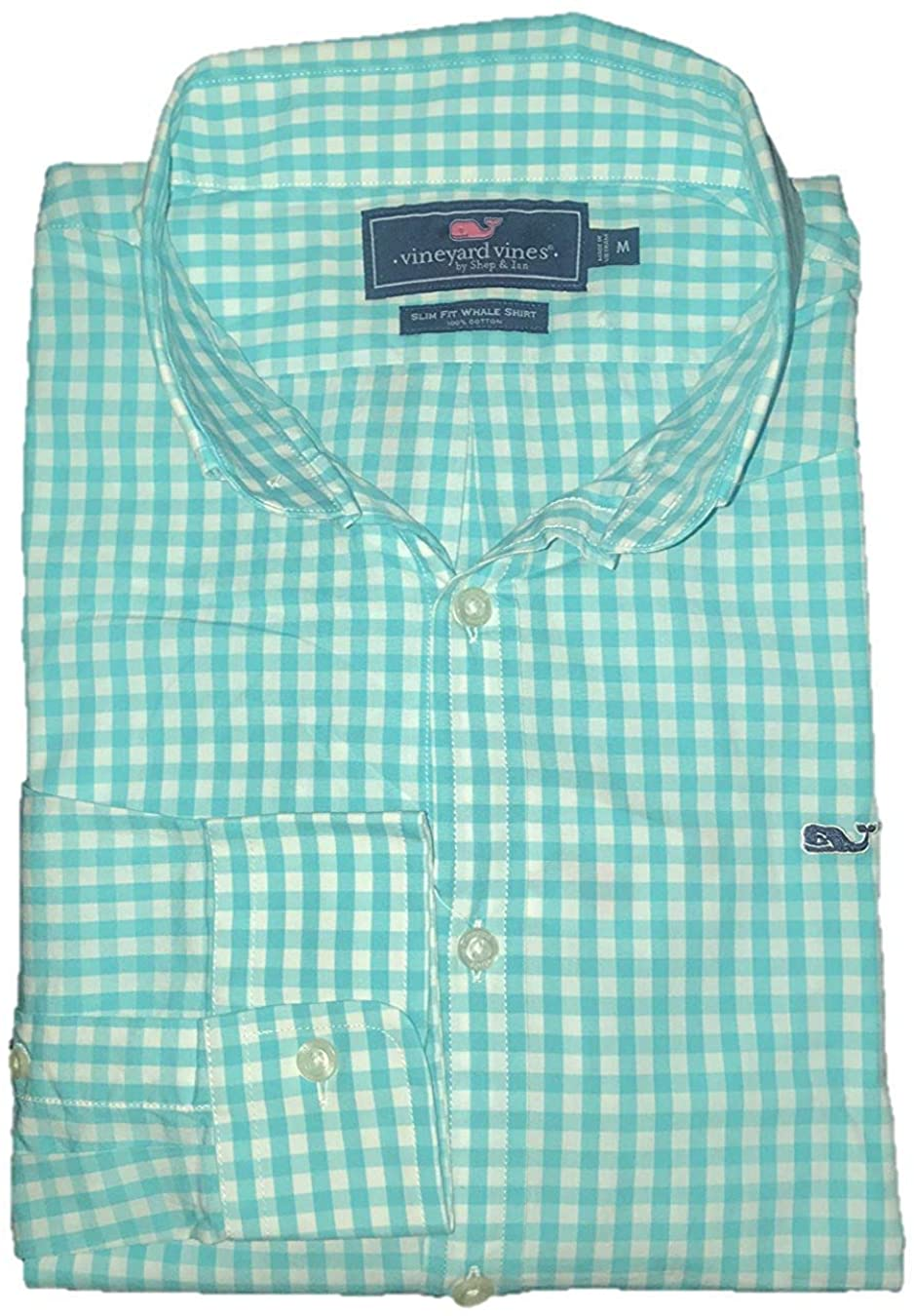 Vineyard Vines Men's Slim Fit Whale Shirt Button Down Dress Shirt