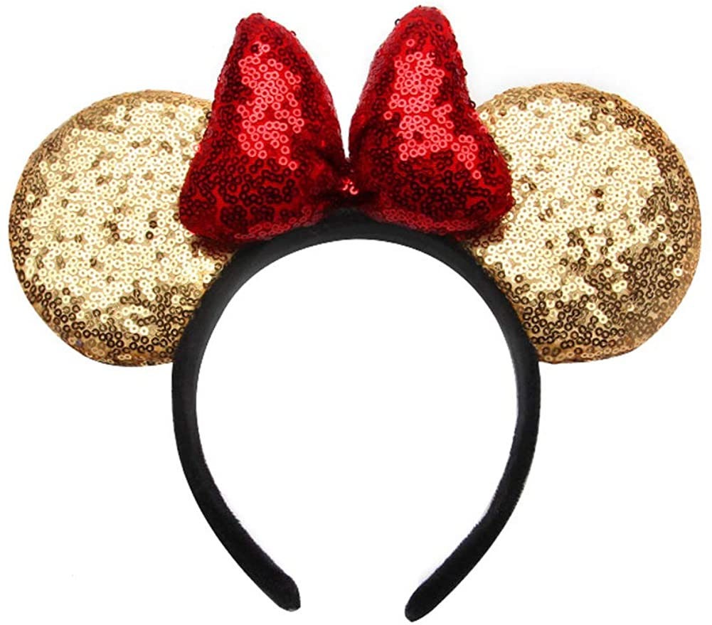 Minnie Mouse Ears Mickey Ears Mice Ears Mouse Ears, Sparkly Ears for Adults Kids