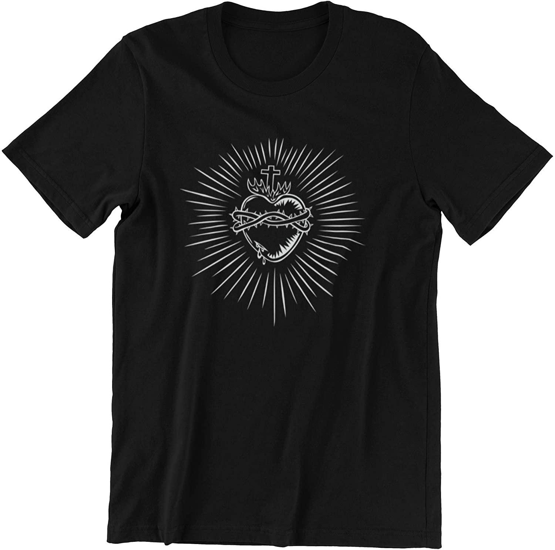 Sacred Heart of Jesus - Minimalist Catholic T-Shirts for Religious Men Or Women