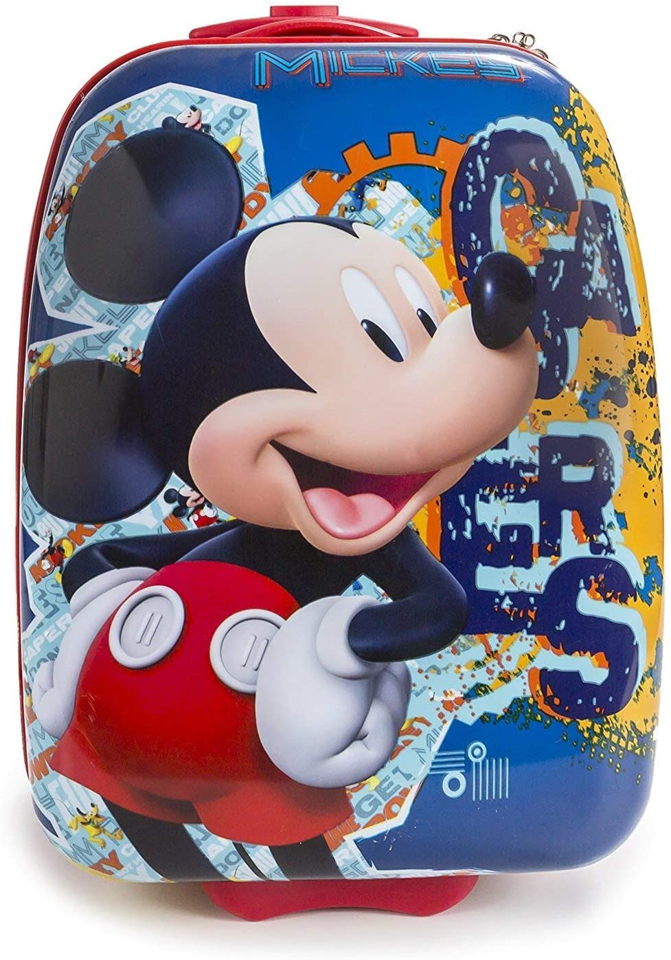 Disney Hard Shell Rolling Luggage with Handle Mickey Mouse 16 Inch