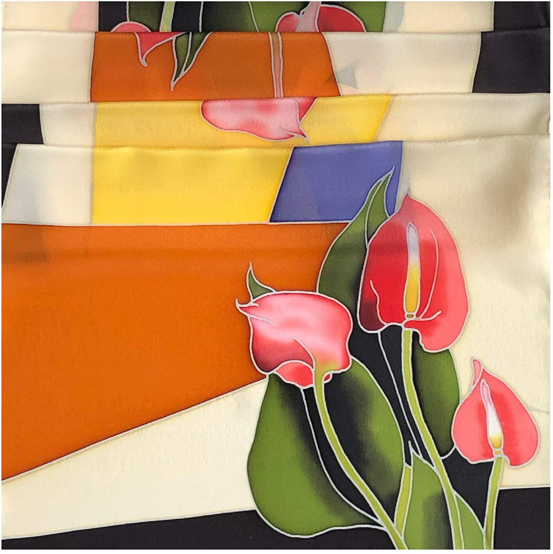 Hand Paint Silk Scarf, 64