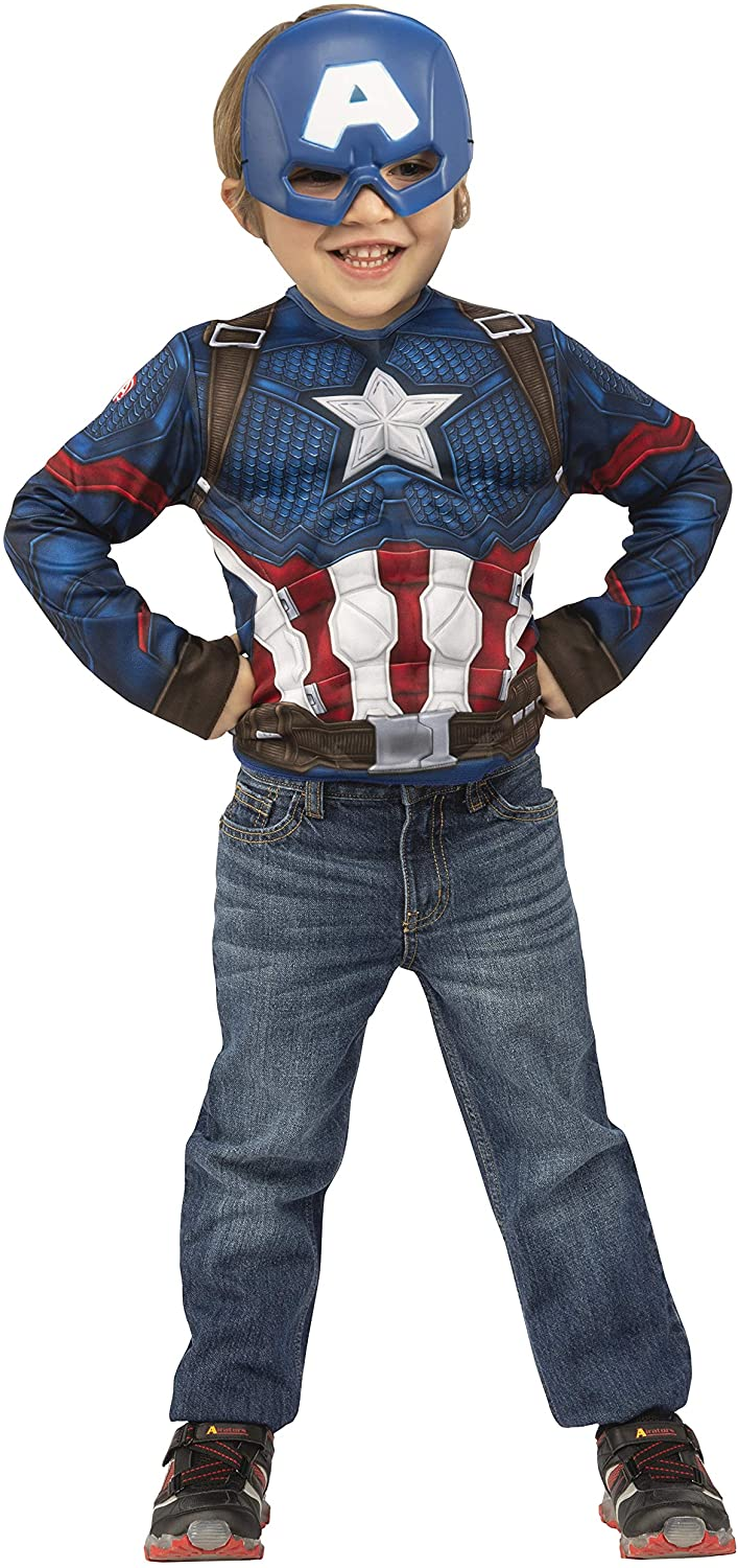Imagine by Rubie's Marvel Avengers: Endgame Captain America Dress-Up Set, Small