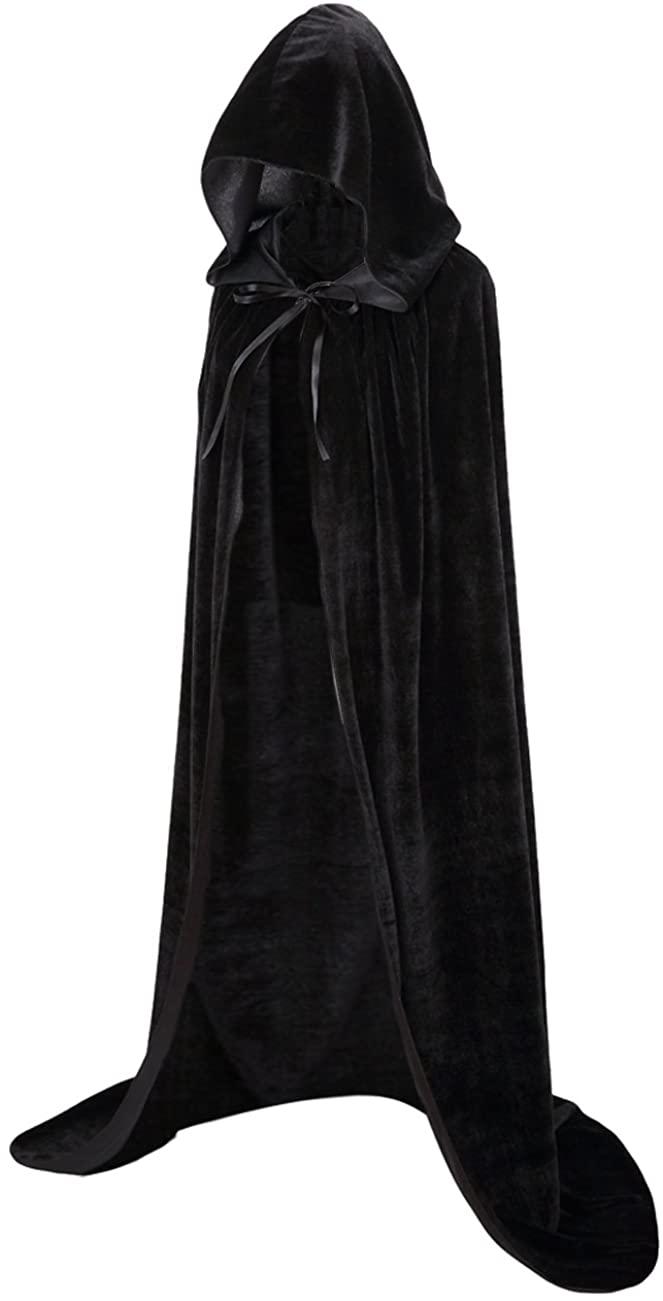 Meeyou Kids Velvet Cloak, Hooded Cape for Boys & Girls Halloween Costume