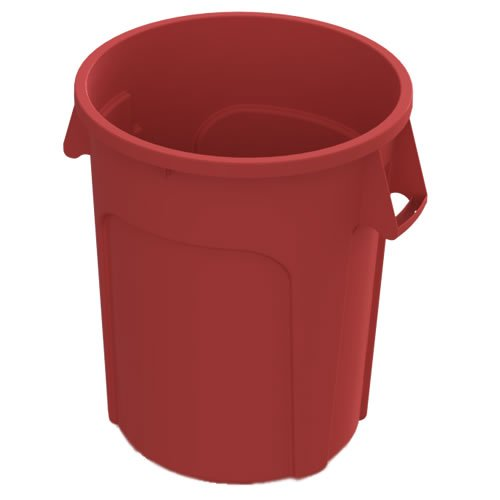 Impact Products 32 Gallon Red Value Plus Trash Container