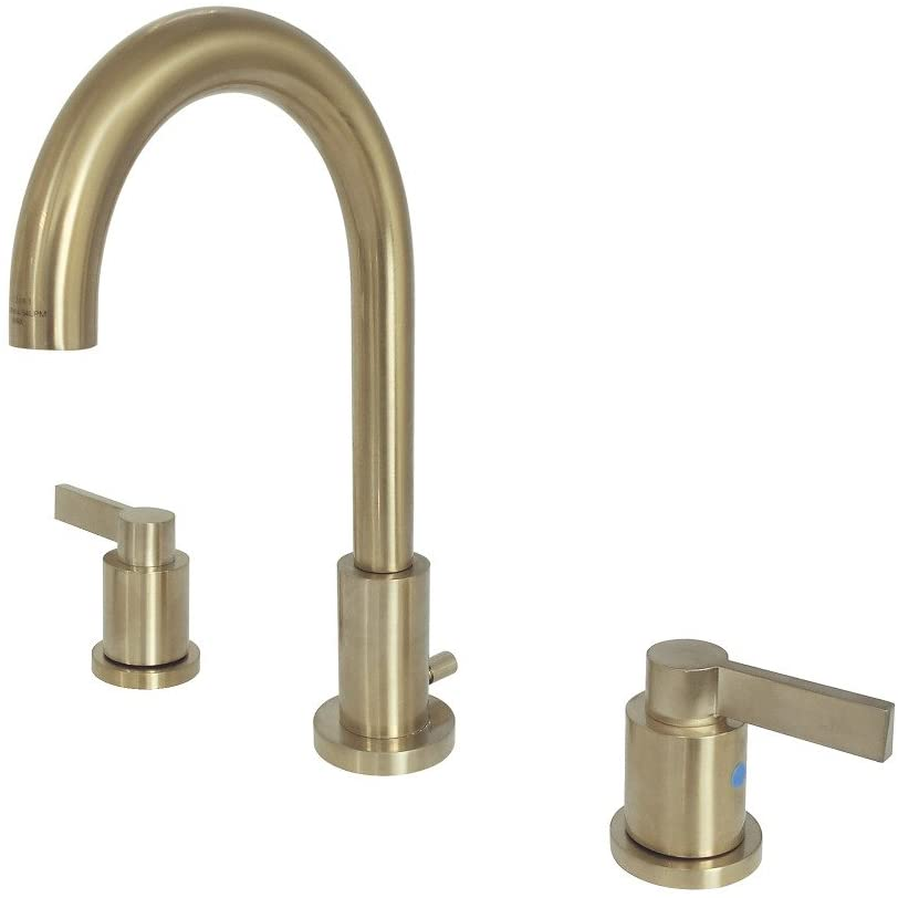 Fauceture FSC8923NDL NuvoFusion Widespread Bathroom Faucet, Brushed Brass