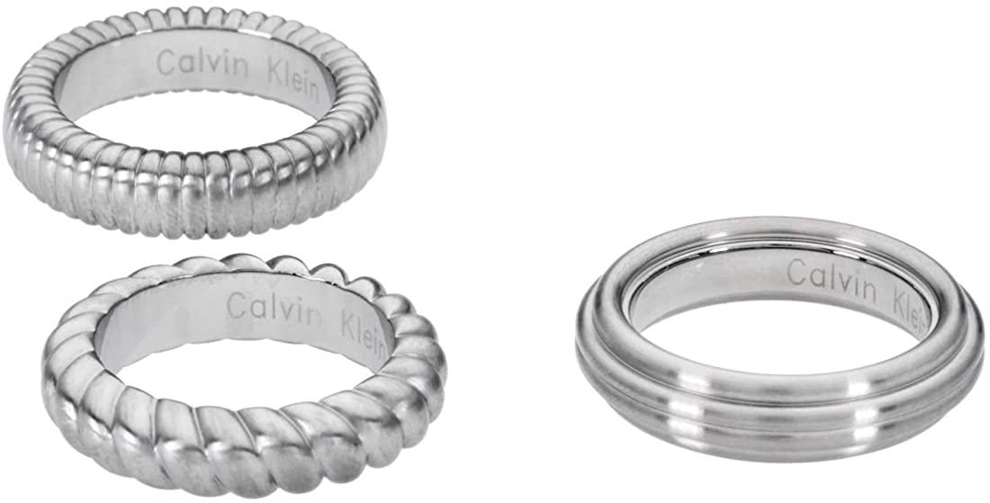 Calvin Klein Waves Silver Size 7 Ring KJ17AR010207