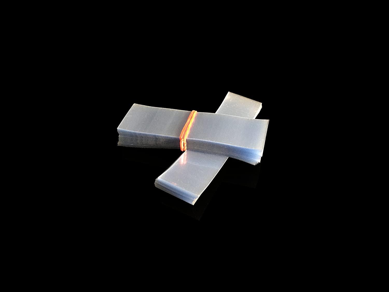 SHRINK WRAP BANDS , Shrinkband Tamper Heat Cellophane Seal 200 pcs bands. (1 1/4 - 1 1/2 Diameter)