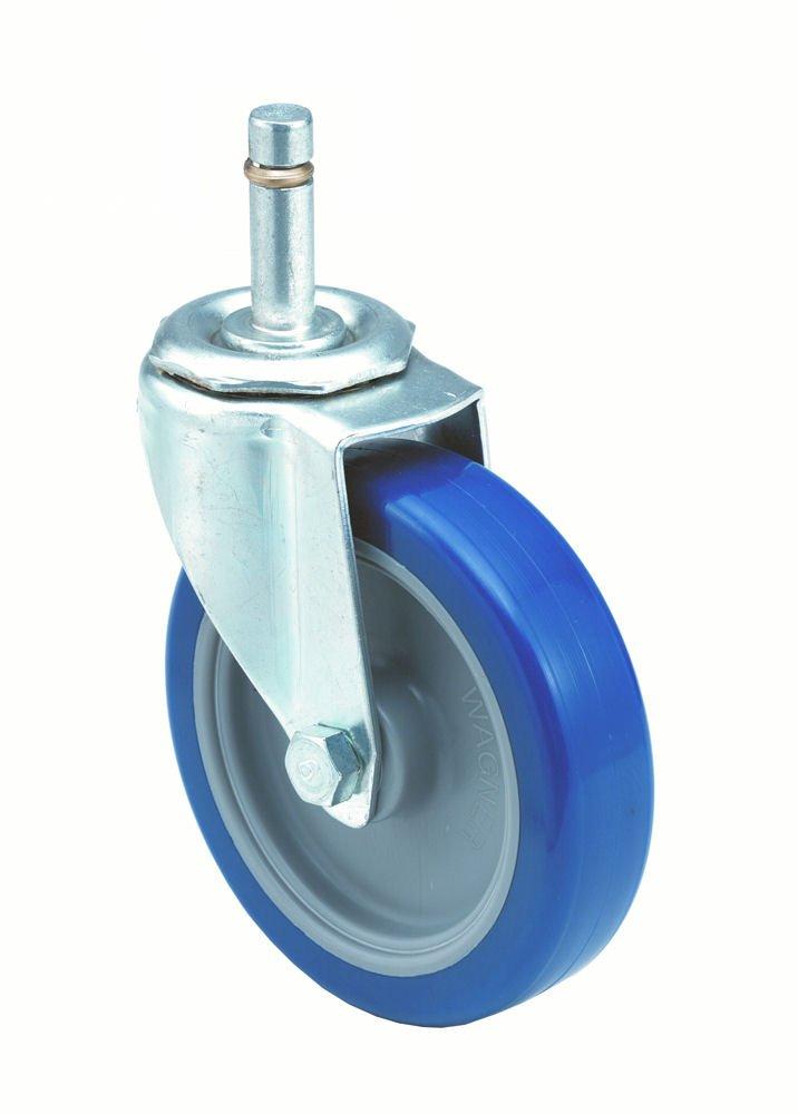 E.R. Wagner Stem Caster, Swivel, Polyurethane Wheel, Delrin Bearing, 275 lbs Capacity, 4