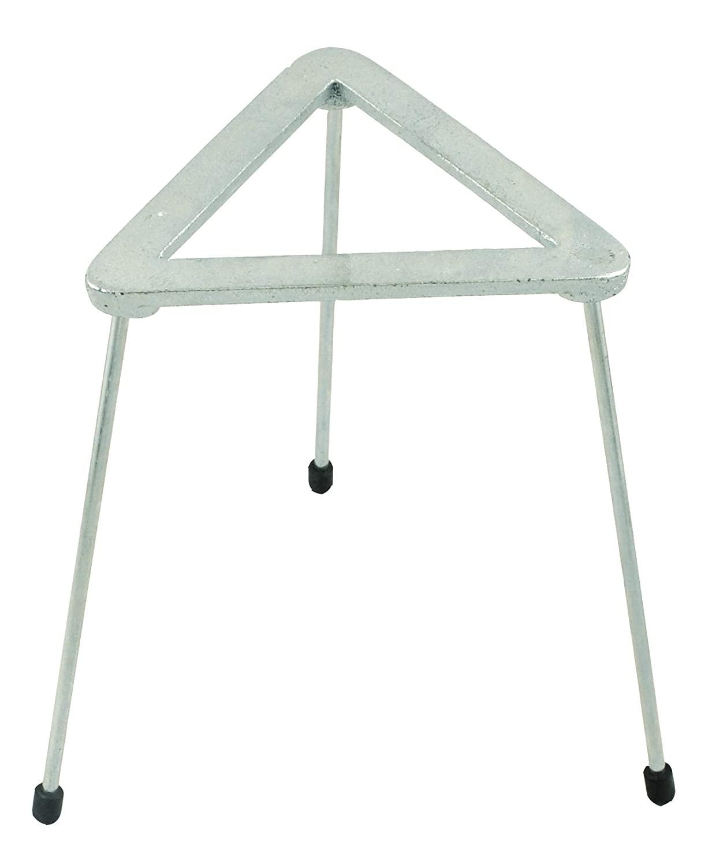 Zinc Plated Cast Iron Triangular Tripod Stand for Bunsen Burners, 8.25