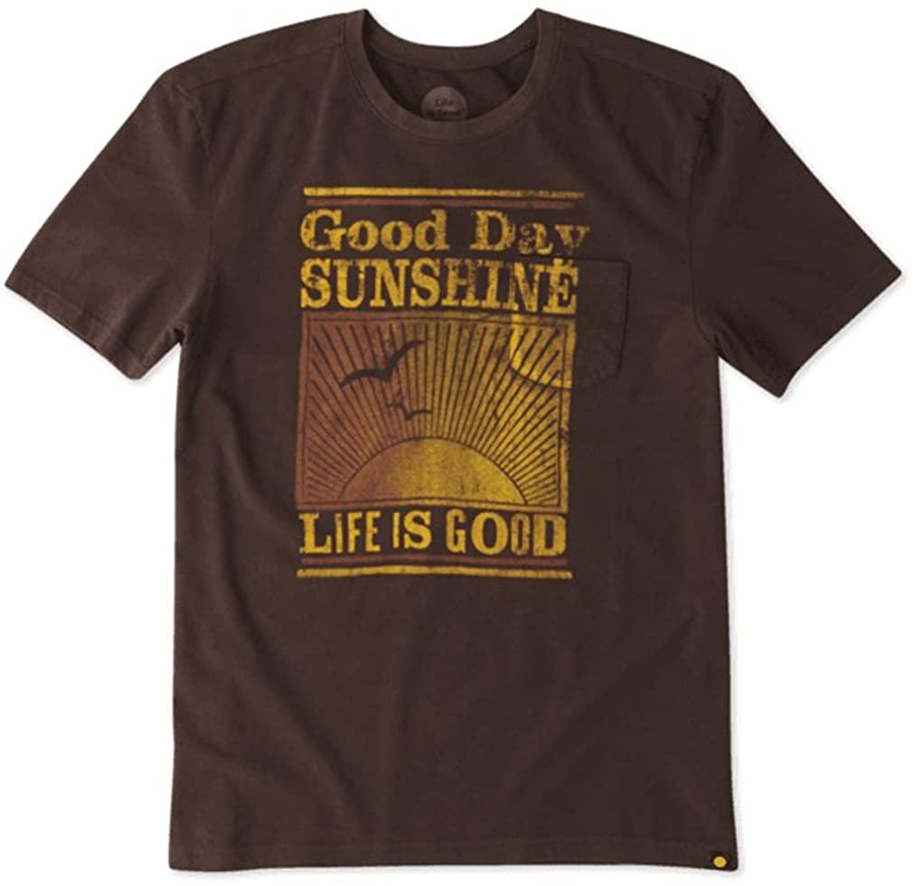 Life is Good Men's Pocket Good Day Sunshine Sleep Tee