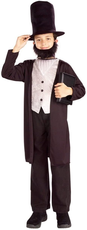 Forum Novelties Abraham Lincoln Costume - Child Costume - Small (4-6) Black