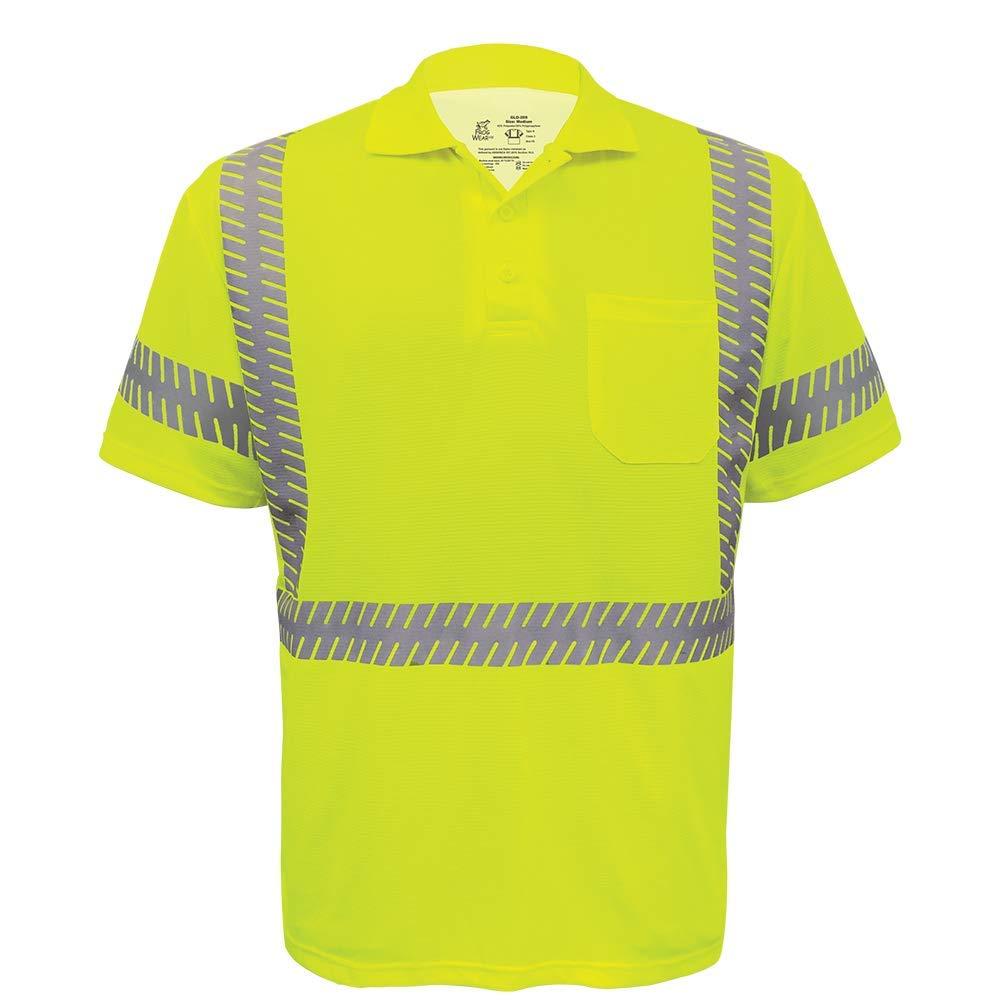 Global Glove GLO-209 - FrogWear HV - Premium High-Visibility Polo Shirt - Large